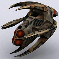 alien space ship 3d model
