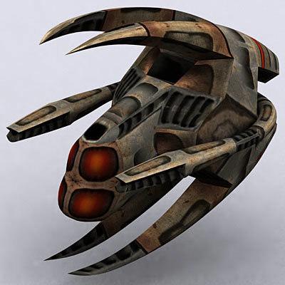 alien space ship 3d model