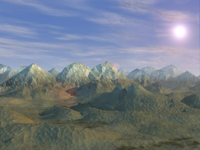 3d mountain scene model