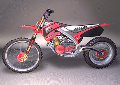 motocross motorcycle bikes iges 3d model