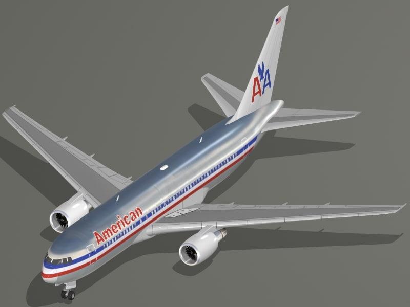 3dsmax b 767-200 american airlines