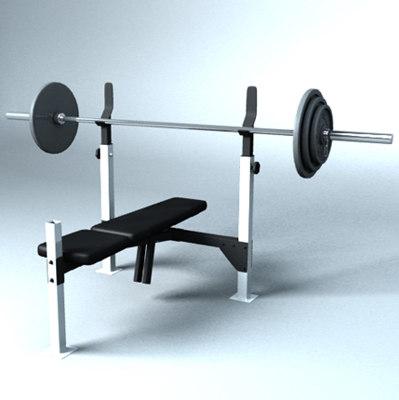 3d weight bench