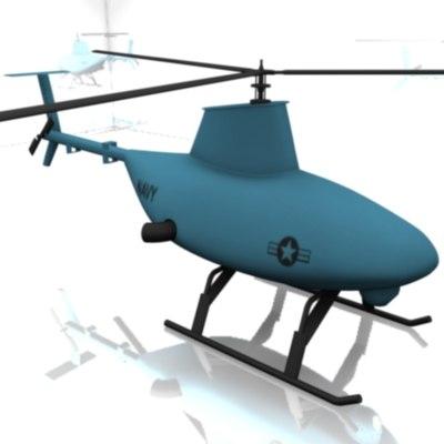 3d vtol tactical unmanned model