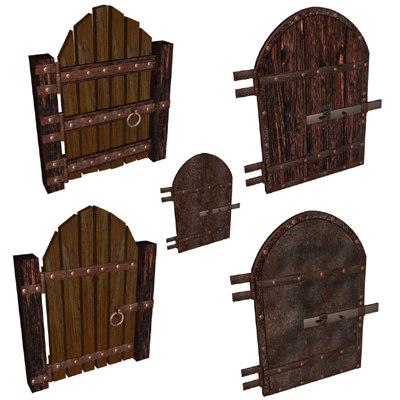 3d model of dungeon door