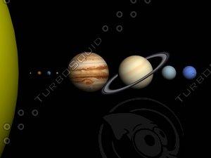 3d sun planets