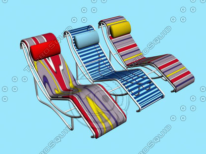 3d pool chairs model