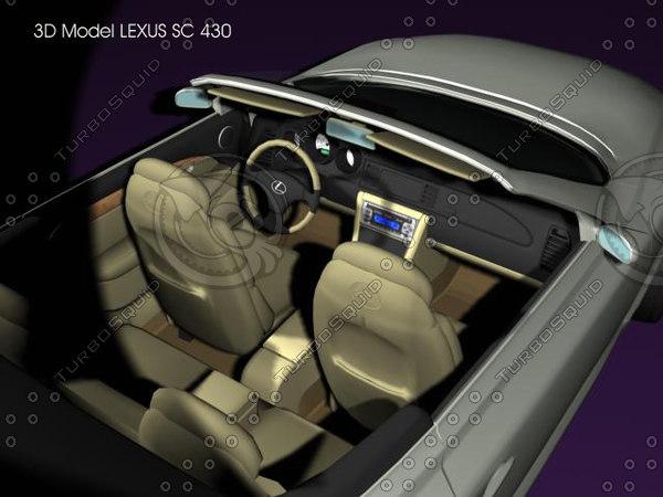 lexus sc 3d model