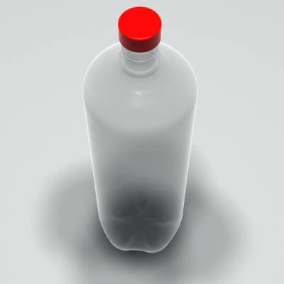 3d plastic drinks bottle