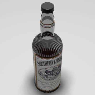 liquor bottle 3d model