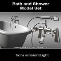 bath shower 3d model
