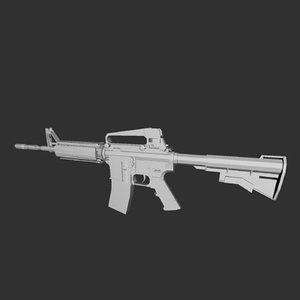 3d model weapon rifle