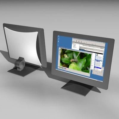 screen display 3d model