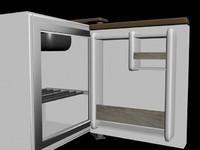 3d model fridge minifridge mini