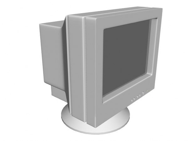 free computer monitor 3d model