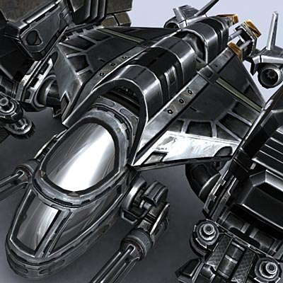 sci-fi dropships 3d model