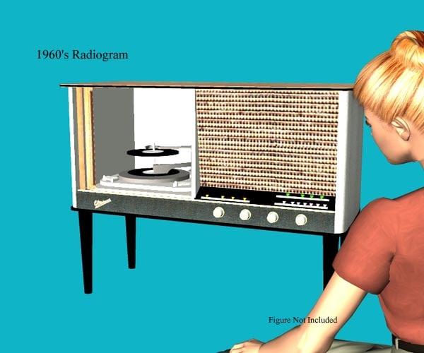 1960 s radiogram 3d model