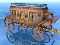 stagecoach bryce vue 3d model