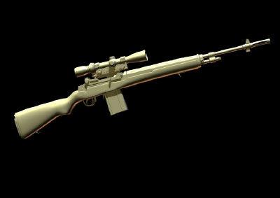 rifles 3d model