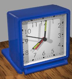 3d classic travel alarm clock