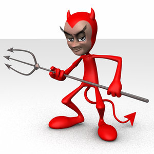 devil boy 3d c4d