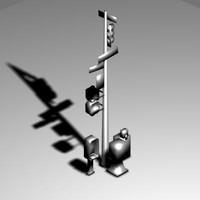 3d model light signal