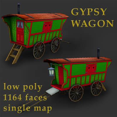 3ds gypsy wagon