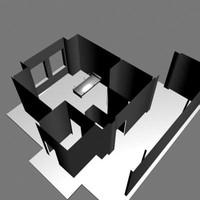 hospital room 3d model