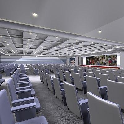 theatre interior 3d model
