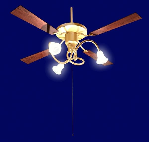 fan light 3d max