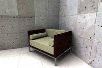3d hbf lounge chair model