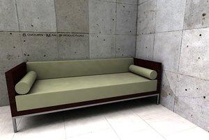 hbf sofa 3d 3ds
