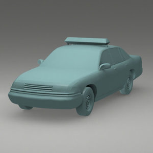 x police car