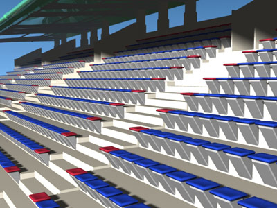 lightwave stadium tribunes grass