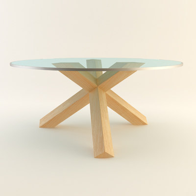 cassina 452 table 3d 3ds