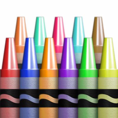 3d model crayon