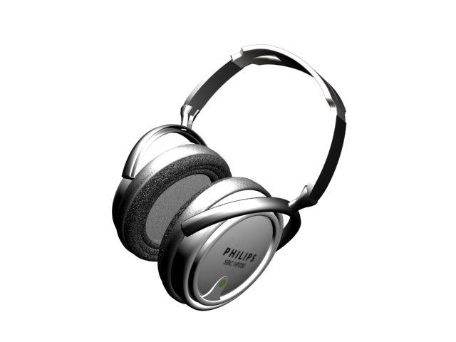philips headset 3d model