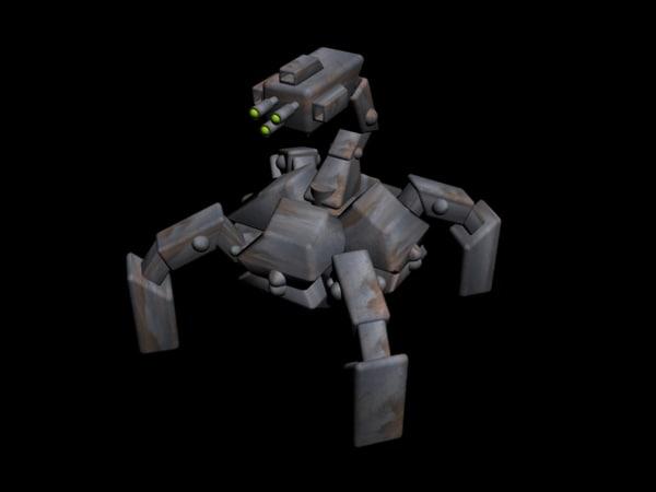 3d model spider mech