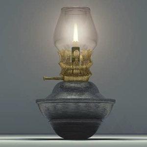 oil lamp 3d max