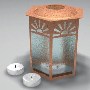 lantern candles 3d model