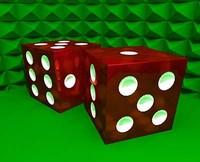 free casino dice 3d model