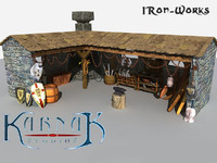 3d medieval iron-works realistic model