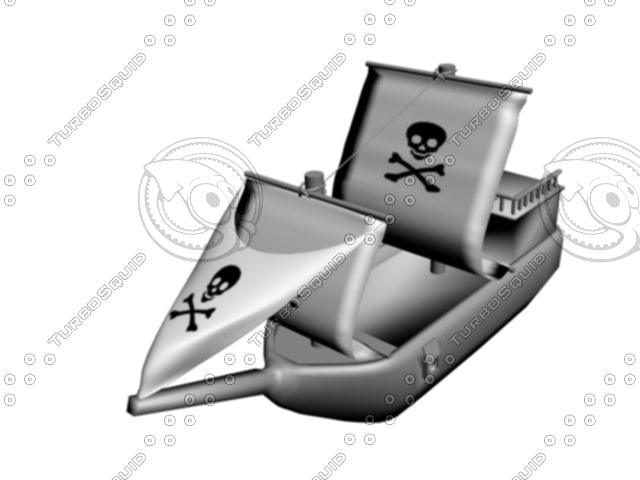 pirate boat 3d model
