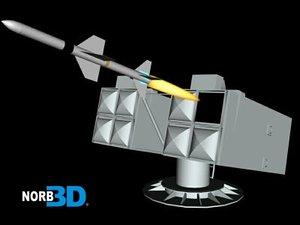 missile aspide 3d max