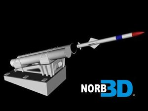 3d ship missile exocet model