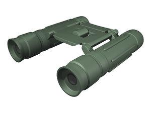 3d model of binoculars