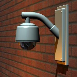 3d model security camera dome surveillance