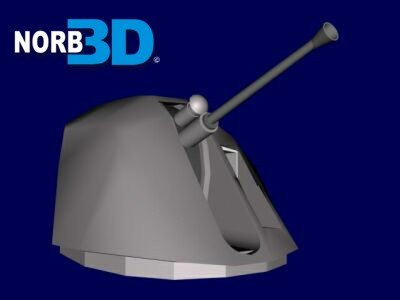 free naval cannon bofors 3d model