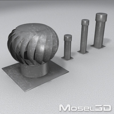 turbine vent wind 3d model