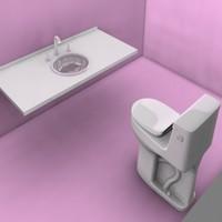 3d bathroom tap sink model