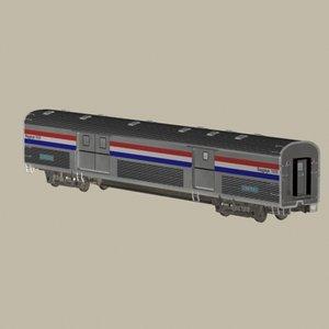 max amtrak baggage car